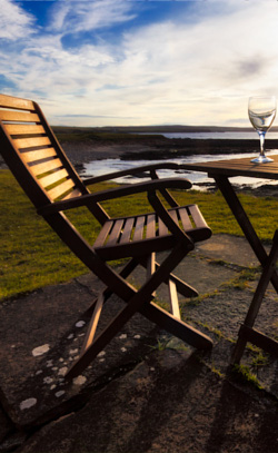 Enjoy glorious views of the local scenery while relaxing in the garden of the holiday cottage.