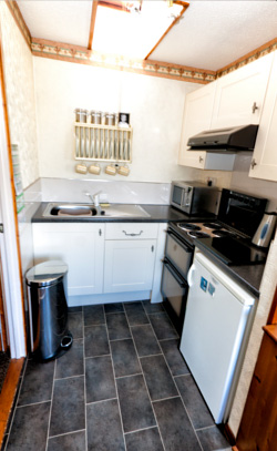 A fully equipped kitchen for all your self catering needs while staying at our holiday cottage.